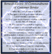 Image of BEC 10 Commandments of Customer Service