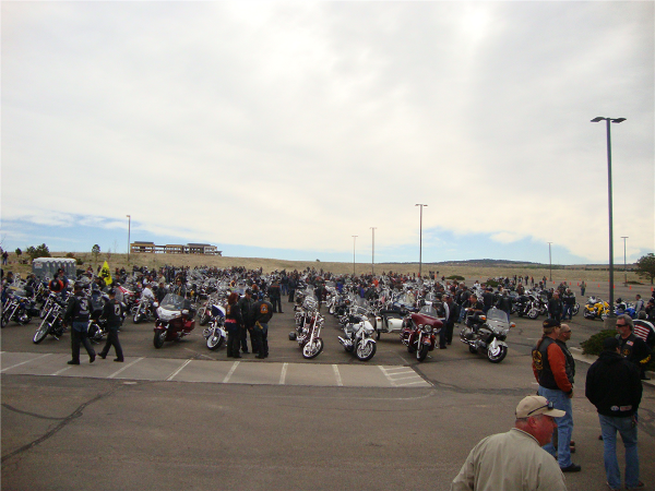 Another view of all the riders.