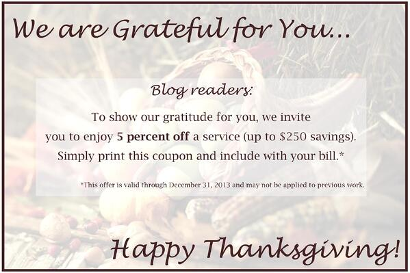 Image of Thanksgiving 2013 Blog Offer